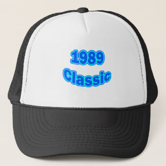 1989年のクラシックな青 キャップ