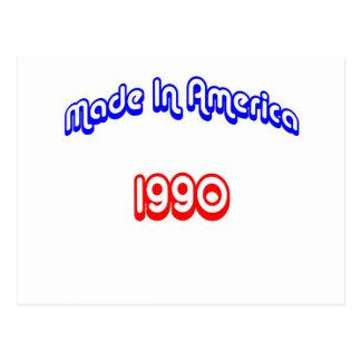 1990年はアメリカで作りました ポストカード