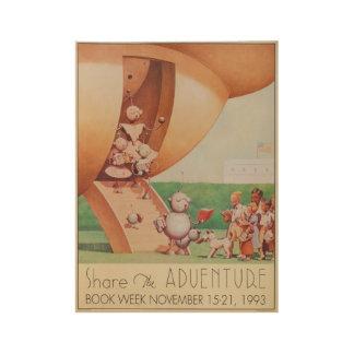 1993人の児童読書週間木ポスター ウッドポスター