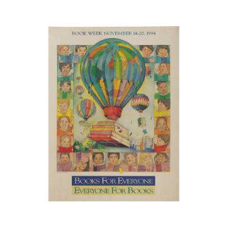 1994人の児童読書週間木ポスター ウッドポスター