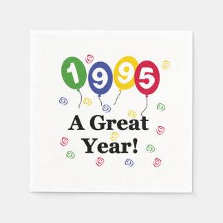 1995年のすばらしい年の誕生日の紙ナプキン スタンダードカクテルナプキン