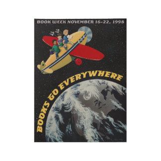 1998人の児童読書週間木ポスター ウッドポスター