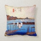 19. 江尻宿、広重Ejiri-juku、Hiroshige、Ukiyo-e クッション