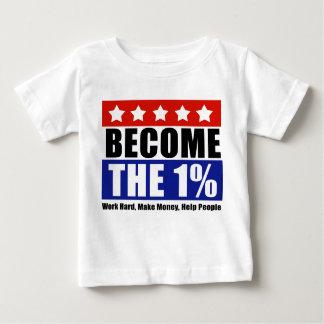 1%なりましたり、ウォールストリートをアンチ占めます ベビーTシャツ