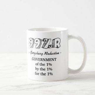 1%の99%r Gettysburgの住所政府 コーヒーマグカップ