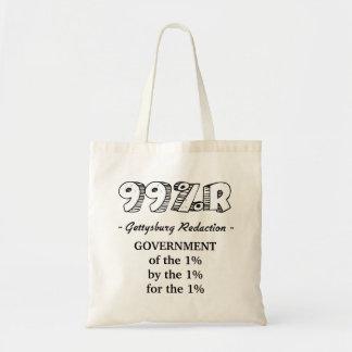1%の99%r Gettysburgの住所政府 トートバッグ