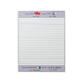 (1)ノートを選んで下さい ノートパッド