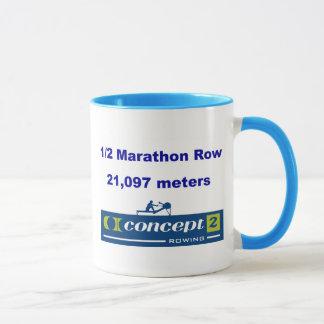 1/2のマラソンのマグ マグカップ