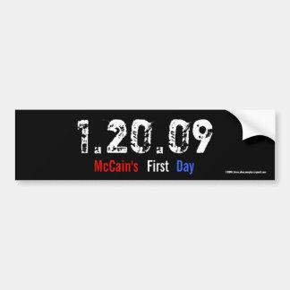 1.20.09 - McCainの最初日 バンパーステッカー