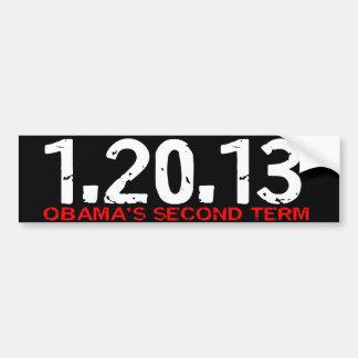 1.20.13二番目のオバマの言葉のバンパーステッカー バンパーステッカー