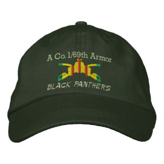 1/69th装甲VSM装甲枝によって刺繍される帽子 刺繍入りキャップ