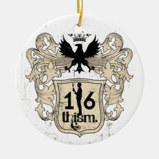 1/6thism_Arms_01 陶器製丸型オーナメント