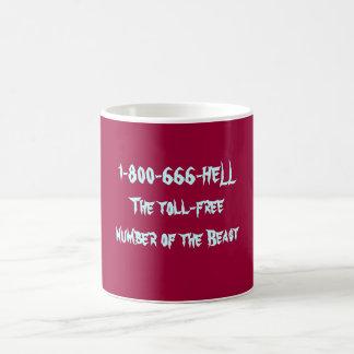 1 800 666地獄獣の料金無料番号 コーヒーマグカップ
