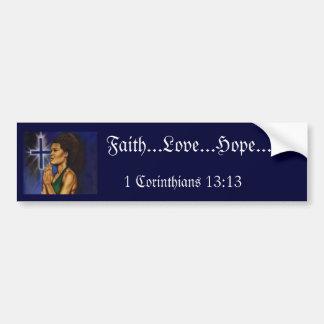 1 Corinthiansの13:13 バンパーステッカー