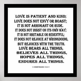 1 Corinthiansの13:4 - 7愛 ポスター