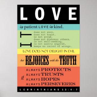 1 Corinthiansの13:4 - 7 ポスター