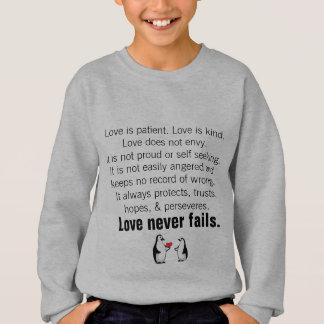 1 Corinthiansの13:4 - 8愛 スウェットシャツ