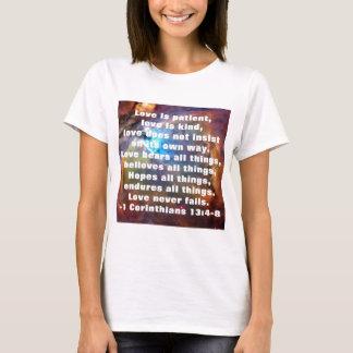 1 Corinthiansの13:4 - 8 Tシャツ