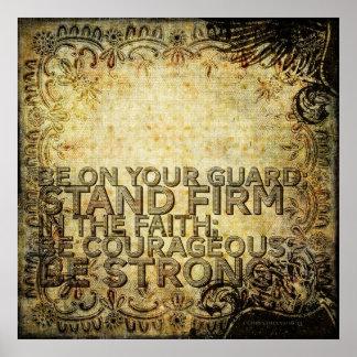 1 Corinthiansの16:13 ポスター