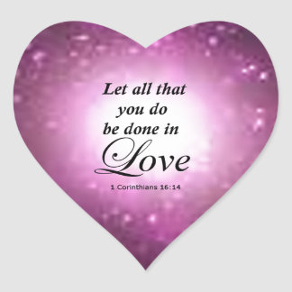 1 Corinthiansの16:14 ハートシール