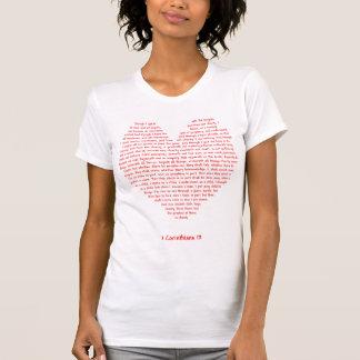 1 Corinthians 13のハート Tシャツ