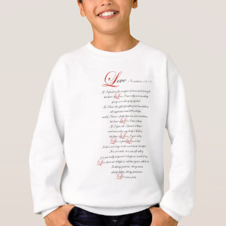 1 Corinthians 13 スウェットシャツ
