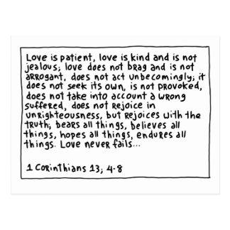 1 Corinthians 13 4-8 ポストカード