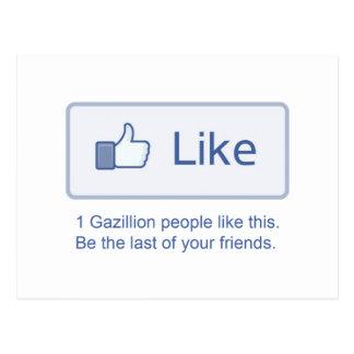 1 Gazillionは好みます ポストカード