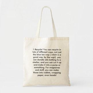 1.Recycle! 違うの多くで…リサイクルできます トートバッグ
