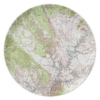 1 x 2度の地形図 プレート