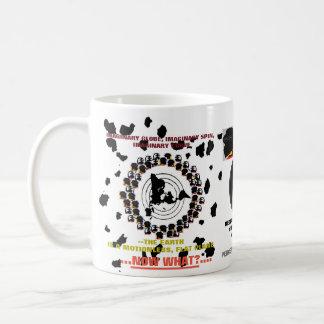 """(#1B) (FEPE) """"…今何…か""""。 平らな地球(マグ) コーヒーマグカップ"""
