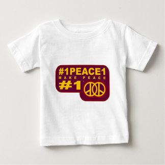 #1peace1 twitterのTシャツ ベビーTシャツ