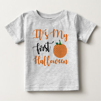 1st Birthday Girl Pumpkin ベビーTシャツ