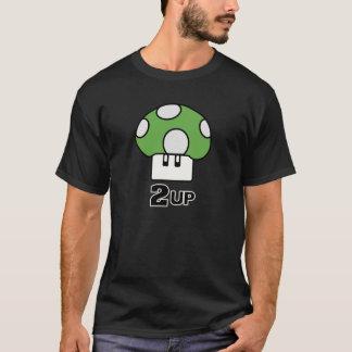 2きのこのワイシャツの上で Tシャツ
