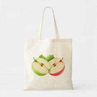 2つのりんごの半分 トートバッグ