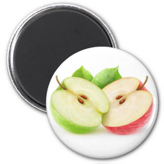 2つのりんごの半分 マグネット