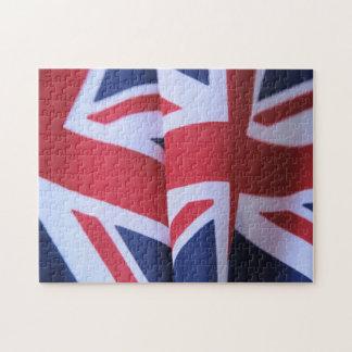 2つのイギリスの旗のジグソーパズル ジグソーパズル