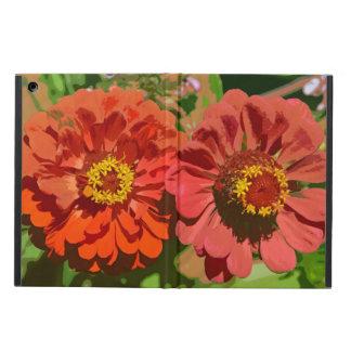 2つのオレンジ《植物》百日草の花のipadの空気箱