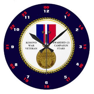 2つのキャンペーン星のコソボ紛争の退役軍人 ラージ壁時計
