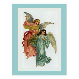 """""""2つのクリスマスの天使""""の郵便はがき ポストカード"""