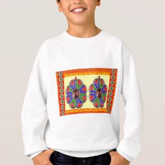 2つのサフランのBasantiの宝石のEthinicのインディアンの装飾 スウェットシャツ
