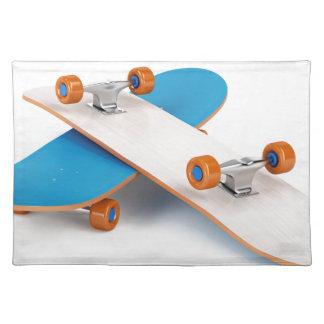2つのスケートボード ランチョンマット