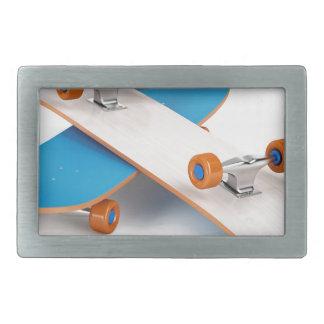2つのスケートボード 長方形ベルトバックル