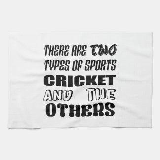 2つのタイプのスポーツがクリケットをします他あり、 キッチンタオル