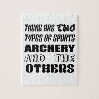 2つのタイプのスポーツのアーチェリーおよび他があります ジグソーパズル