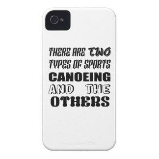 2つのタイプのスポーツのカヌーをこぐことおよび他があります Case-Mate iPhone 4 ケース