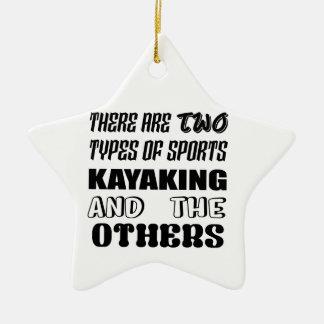 2つのタイプのスポーツのカヤックを漕ぐことおよび他があります セラミックオーナメント