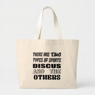 2つのタイプのスポーツの円盤投げおよび他があります ラージトートバッグ