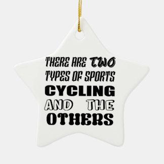 2つのタイプのスポーツの循環および他があります セラミックオーナメント