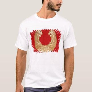 2つのドラゴンおよびタオタイのマスクが付いているプラク Tシャツ
